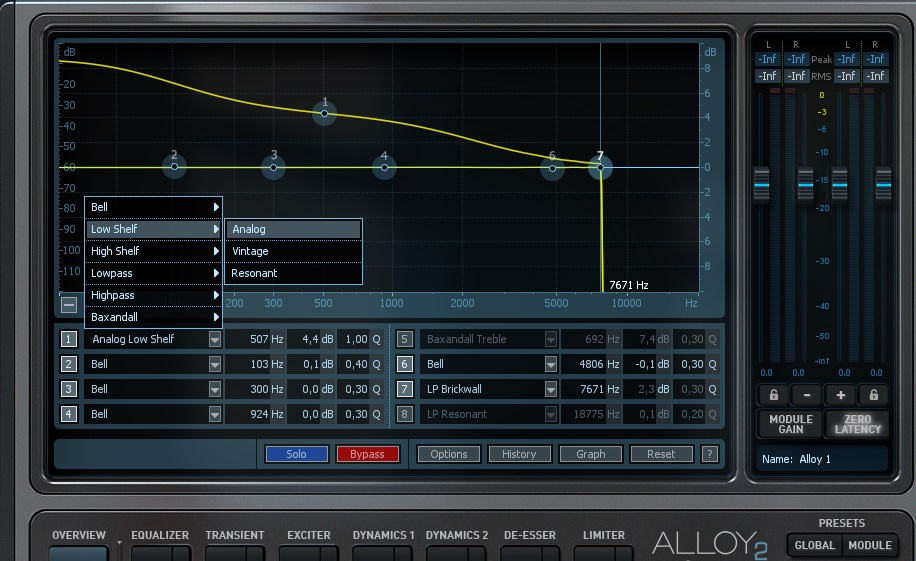 Eq low shelf analog